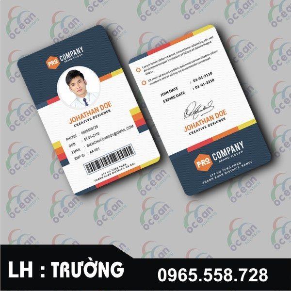 thẻ nhân viên công ty